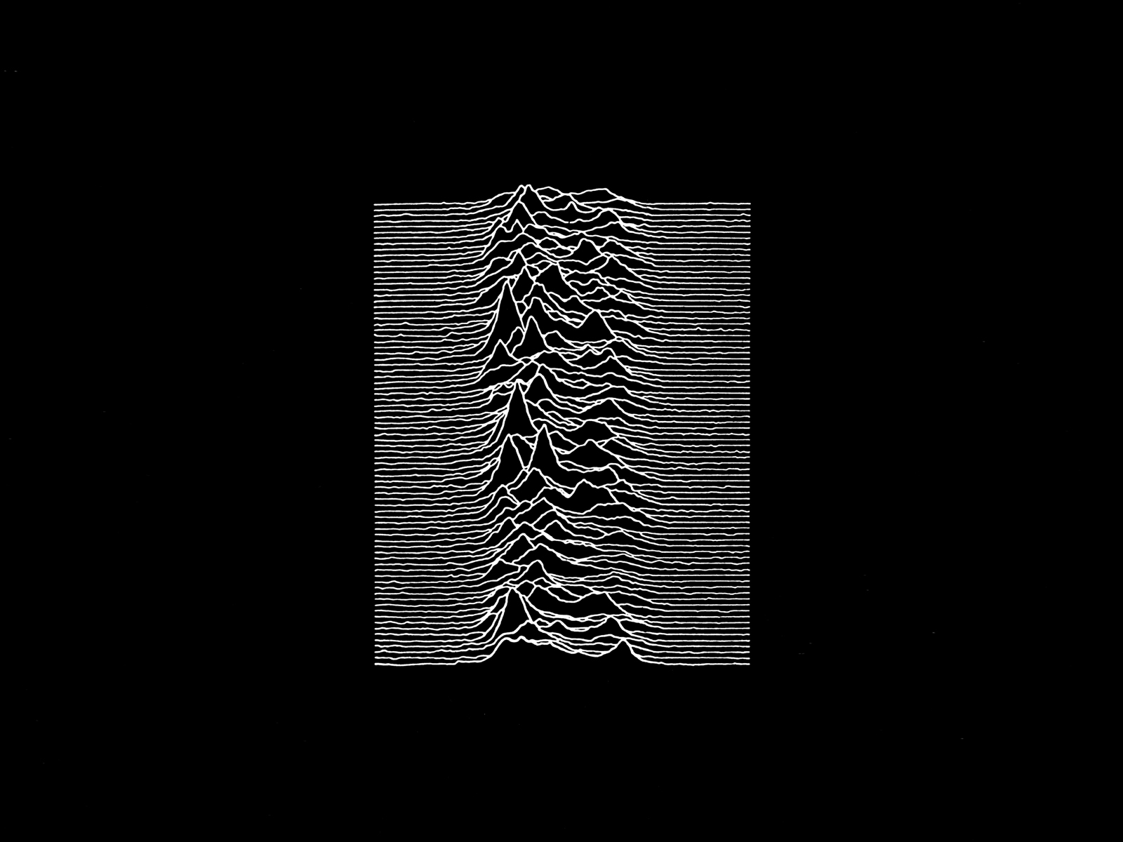 Joy Division Unknown Pleasures desktop wallpaper
